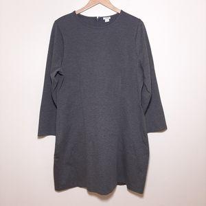 J Crew Gray Long Sleeve Sheath Dress NWT size 18